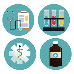 healthcare medical equipment icons vector illustration eps 10