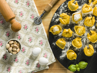 homemade stuffed Tortelli Emiliani