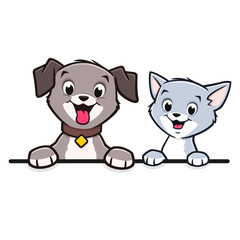 Cartoon Dog Cat Animal Frame