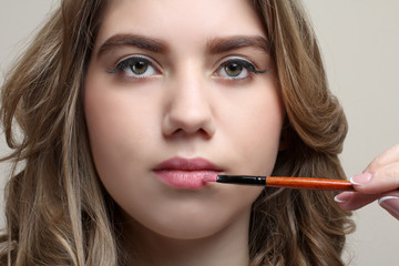 girl with day make-up