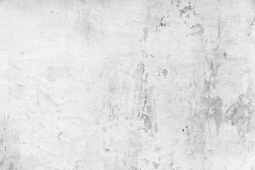 Old white concrete wall, grungy background