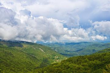 mountain landscape in Croatia.