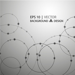 Geometric abstract background. Circles intersection. The vector image 10 eps.