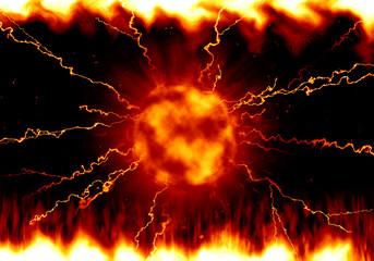 炎 対戦のイメージイラスト(赤色)