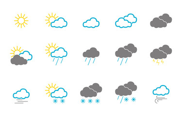 Wetter - Icon-Set (in Bunt)