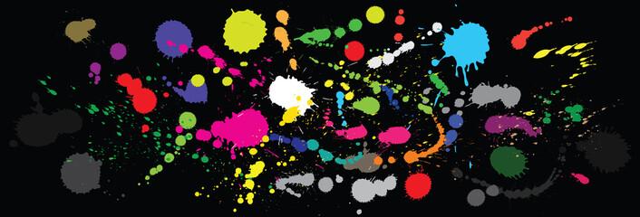 Vector paint splashes.