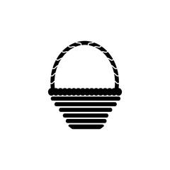 Wicker basket vector  icon.