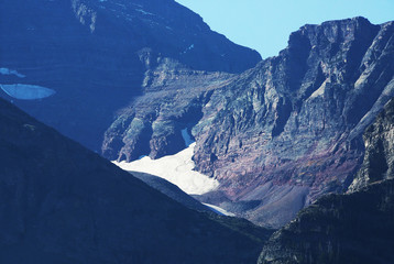 Wall Mural - Glacier in the Mountains of Glacier National park
