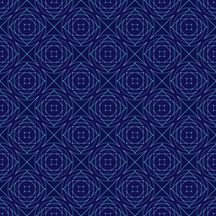 blue abstract geometry vector seamless pattern