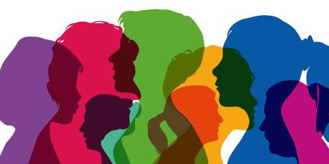 Femmes - Silhouettes - Profils - portrait - visage - tête - égalité