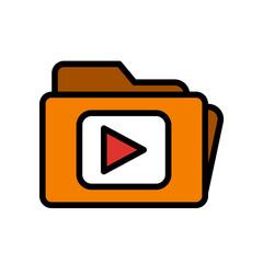 Photography & Video icons - Video Clip folder (Retro)