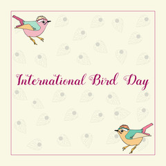 International Bird Day poster, banner.