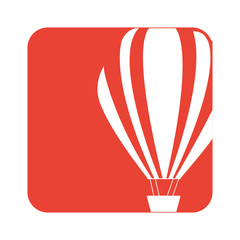 picture fly balloon transport, vector illustration design