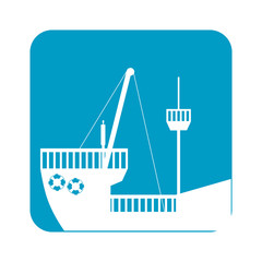 picture ship maritime transpotation, vector illustration design