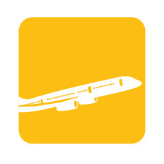 picture fly airplane transportation, vector illustration design