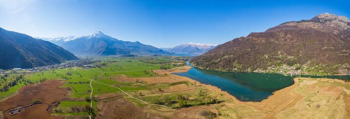 Riserva Naturale di Pian di Spagna - Trivio di Fuentes - Lombardia - Vista aerea verso sud