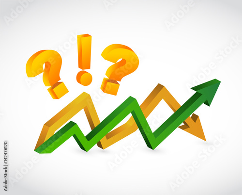 Questions and exclamation up and down arrow chart stock - Table up and down ...