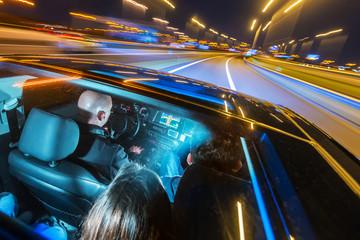 Car pooling at night