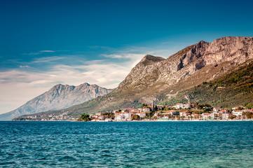 Coastal town, Gradac, located in southern Croatia, Dalmatia