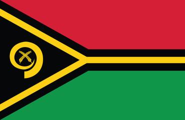 Amazing vector of Vanatu flag