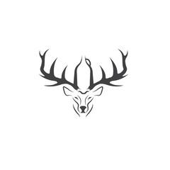 deer with growler negative space vector concept