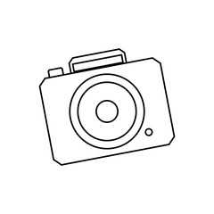 Vintage photographic camera vector illustration graphic design