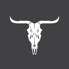 abstract texas cow skull vector design template