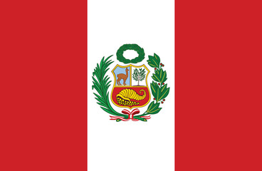 Vector of amazing Peruvian flag.