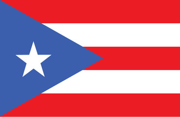Vector of amazing Puerto Rico flag.