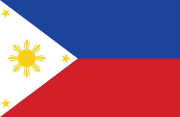 Vector of amazing Philippines flag.