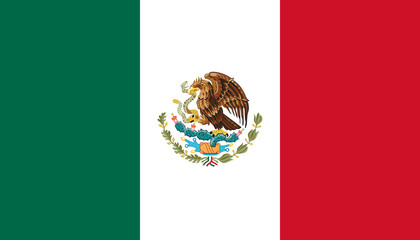 Vector of amazing Mexican flag.