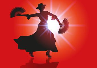 danse - flamenco - éventail - danseur - musique