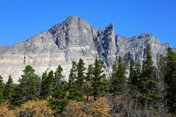 Wall Mural - Mountain Scenic in Glacier National Park