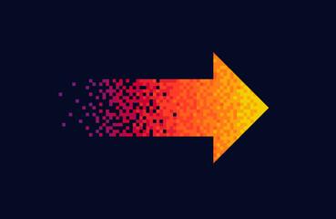 Pixel red arrow