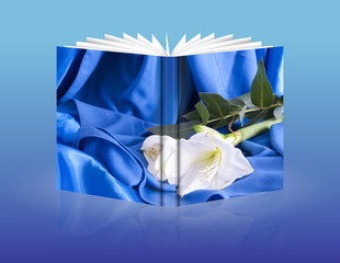 Book of a wedding flowers