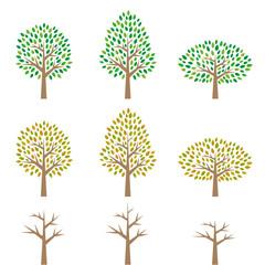 木のイラストセット