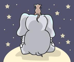 Kinderlijke tekening van olifant