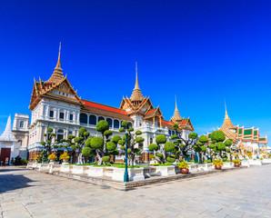 Chakri Maha Prasat Throne Hall near Royal grand palace in Bangkok of Thailand