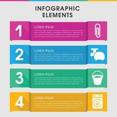 Appliance infographic design with elements.