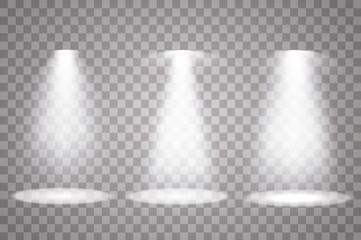 Wall Mural - Vector spotlight. Light effect.Set