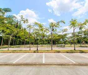 Empty outdoor parking lots