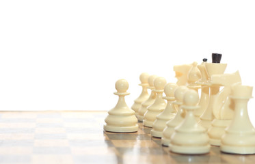 Chess pieces, business and strategy concept