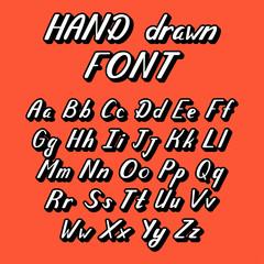 Handwritten lettering vector font alphabet