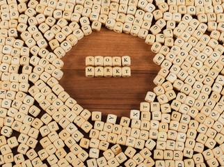 Stock Markt Buchstaben Würfel