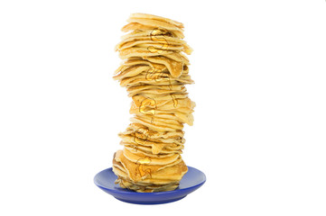Pancakes stacked in a pile