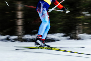 blur legs men skier athlete ski racing competitions
