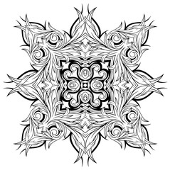 Abstract tattoo ornament pattern