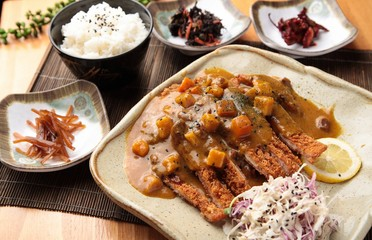 curry tonkatsu. Japanese style cusine.