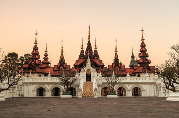 Thailand art legacy in Old-style hotels in Chiangmai province of Thailand