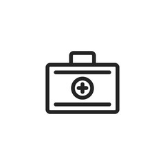 First aid vector icon, medicine symbol. Modern, simple flat vector illustration for web site or mobile app